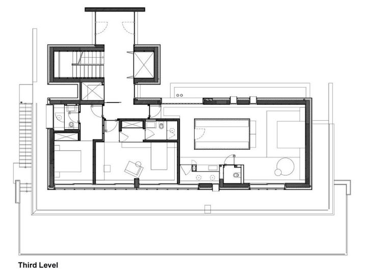 Nice Interior Design For Comfortable Room Sensation Fascinating House Floor Plan At Third Level Of The S Showing A Spacious Kit