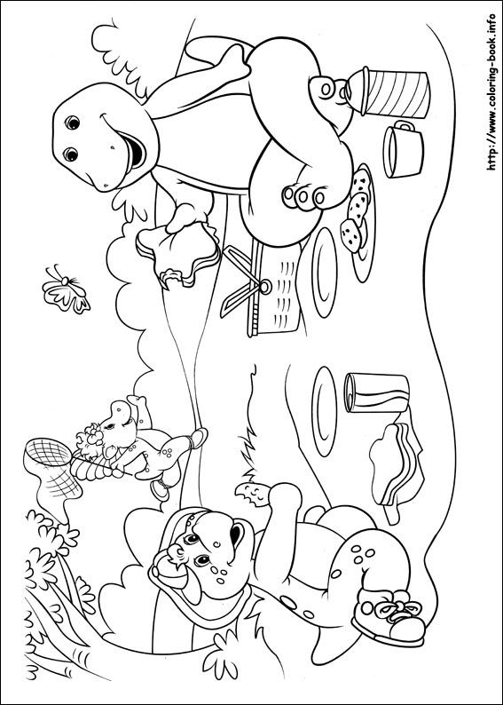 Trend Barney Coloring Book 55 Barney and Friends coloring