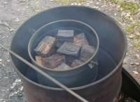 this is a charcoal kiln that I made this winter.  The pic is off internet but this is one like I made.