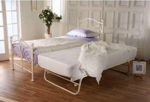 moderne Gäste Bett Designs bettdecke metall klassisch rahmen serene marseilles