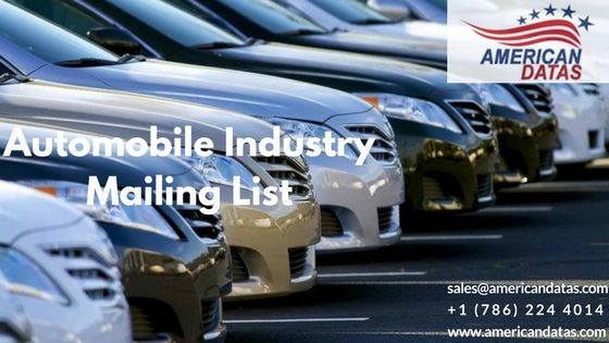 The Automotive Industry Mailing List target retail dealers selling new and used Automobiles, Automobile Dealers, Automobile Executives, Automobile Manufacturing and Auto Retail Sector. Through the …