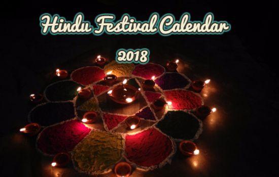Hindu Festival Calendar 2018