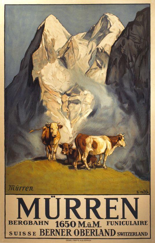 Mürren funiculaire Berner Oberland Ernst Hodel 1925