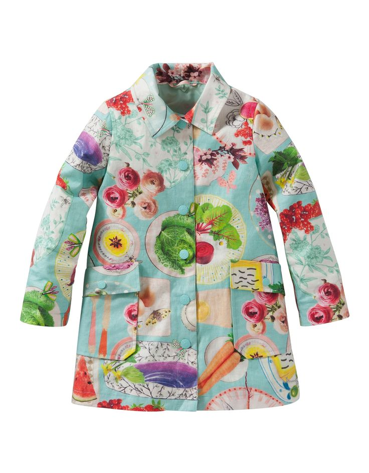Oilily Chelsea Coat Picknick Print | Pre-Order New season Oilily Coat from Oilily Summer 2016 Collection