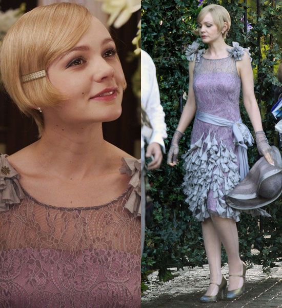 The-Great-Gatsby-Carey-- The dresses were calf length and just like in the 20's, featured a scalloped type fringe.