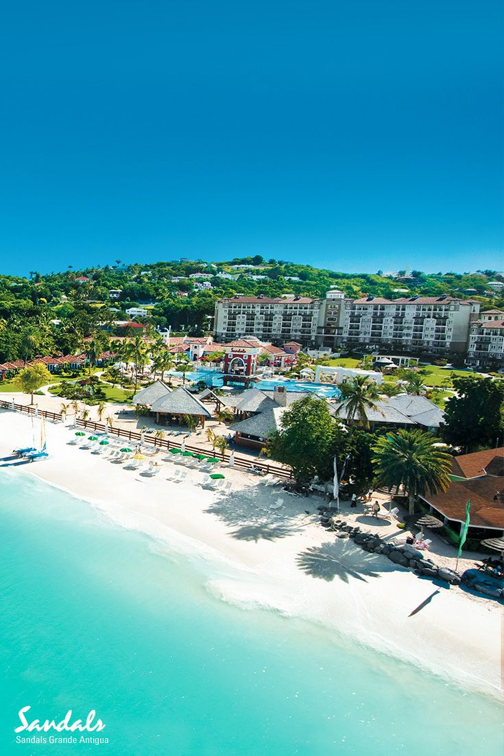 Sandals Grande Antigua Is Located On Dickenson Bay Antiguas Best And Most Famous Beach