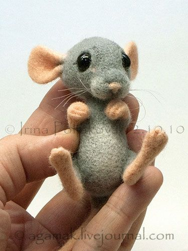 Валяние. Авторские игрушки Ирины Поляковой - «Мышонок»