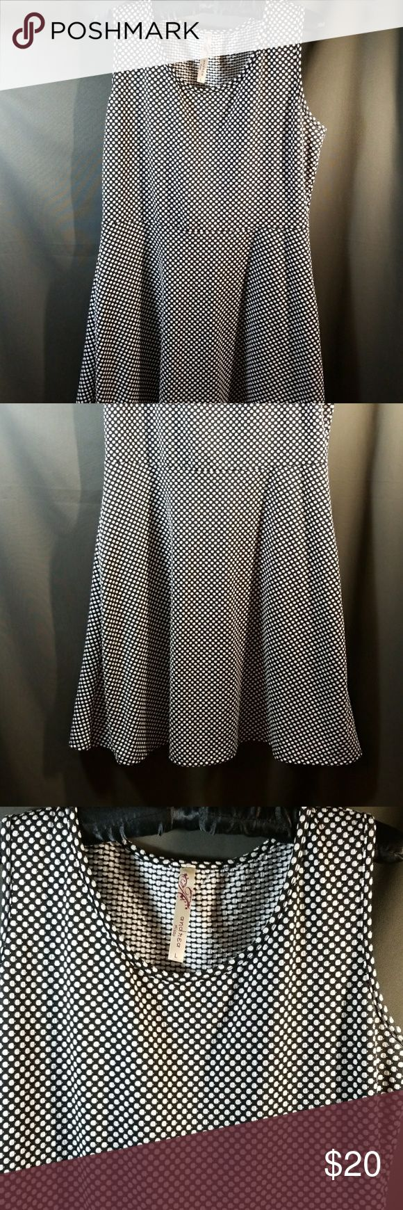 Andrea Missy Dress Black and White Polka Dot Dress Andrea Missy Dresses