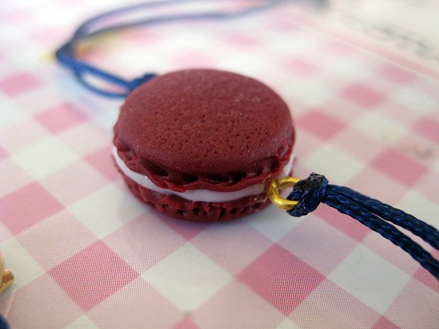 Burgundy Macaroon Bracelet _ 1/12 Dollhouse Scale Miniature Food _ Polymer Clay _ Food Jewelry _ Foodie Gift _ Macaroon Collection by MarisAlley on Etsy