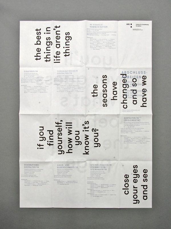 brochure typography