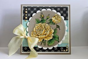 Splitcoaststampers - Bleached Out Images Technique Tutorial for Embossing by Beate Johns