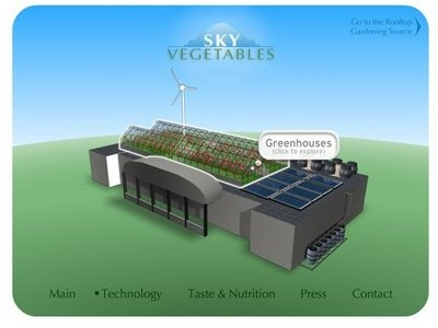 Sky Vegetables, I've thought this was a brilliant idea from the start. Why not grow veggies on top of your local supermarket?