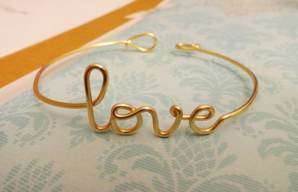 Gold Copper love Bracelet/Bangle by CREATIVEdesignbyTHAO on Etsy: Craft, Style, Gold Copper, 16 99, Diy Jewelry, Gold Rings, Love Bracelets, Things