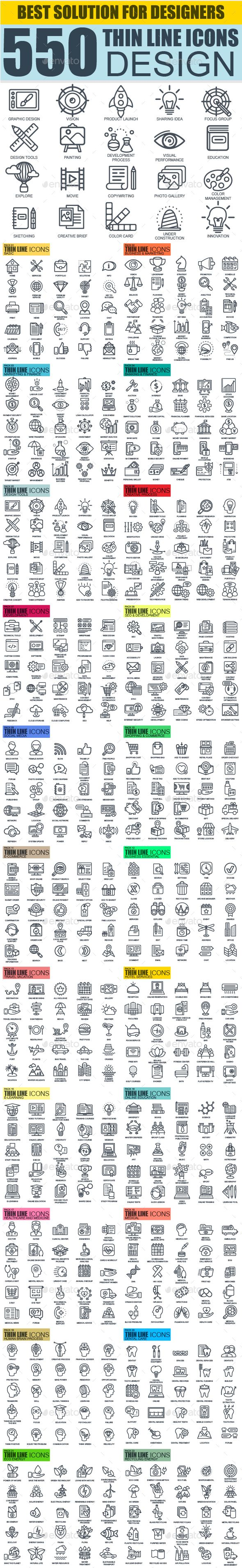 Set of Thin Line Icons — Vector EPS #shopping #icons • Download ➝ https://graphicriver.net/item/set-of-thin-line-icons/19041953?ref=pxcr