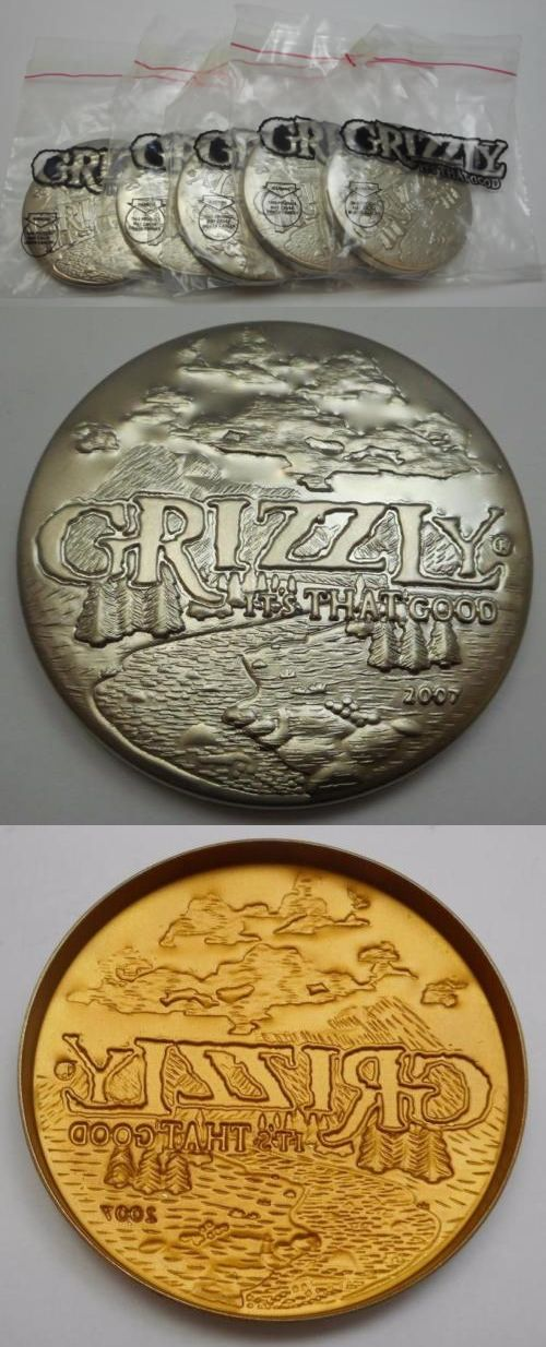 collectibles: Lot Of 5 2007 Grizzly Snuff Can Lid - New In Original Package -> BUY IT NOW ONLY: $73 on eBay!