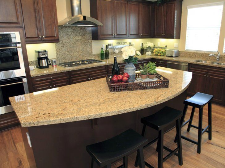 Photo 3 Of 5 Rounded Granite Counter Top Kitchen Island Exceptional Kitchen Islan Kitchen Island With Granite Top Custom Kitchen Island Curved Kitchen Island