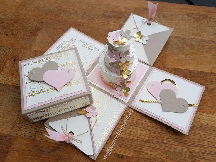Explosionsbox zur Hochzeit Hallo, heute haben wir vom Team StempelfroschBerlin einen Blog Hop zum Thema Hochzeit für euch vorbereit...