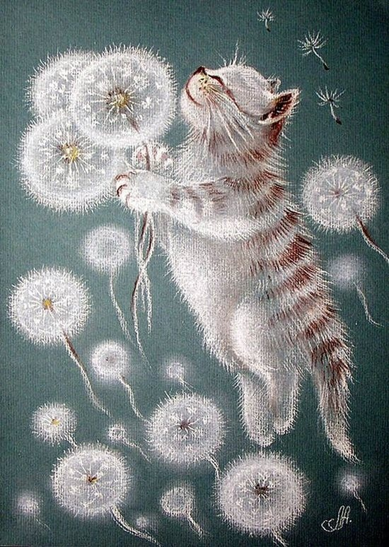 whimsical kitty by кошки в одуванчиках