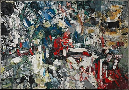 Untitled, Jean-Paul Riopelle, 1957 Again, these are paintings that must be seen in real life in order to truly appreciate them.  They are incredible!