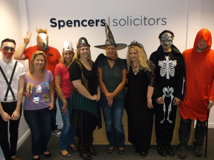 Spencers team dress in Halloween costume