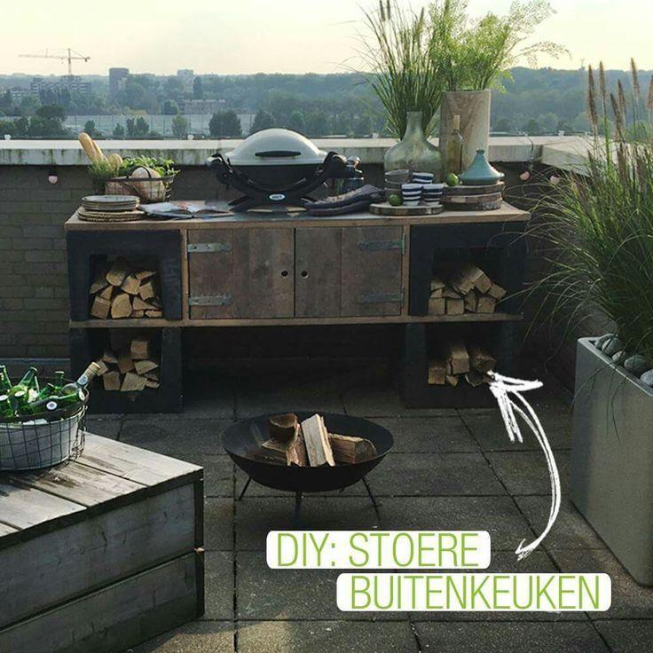 Außenblöcke der Küche U und Gerüstholz   – Irene Reichenbach