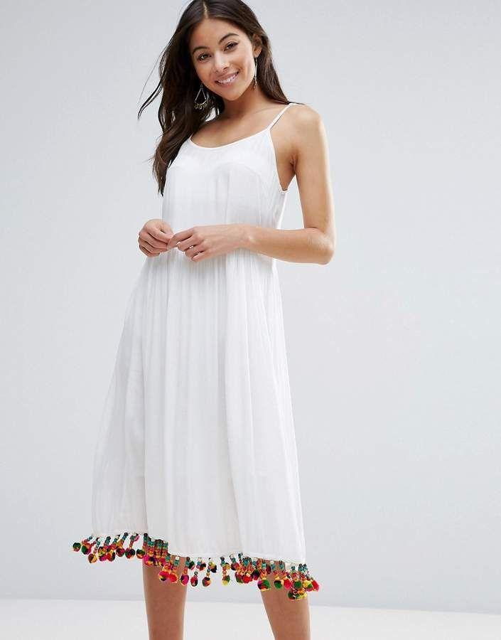76c59b4ddb Anmol Maxi Beach Dress with Pom Pom Trim | best beach dresses in ...