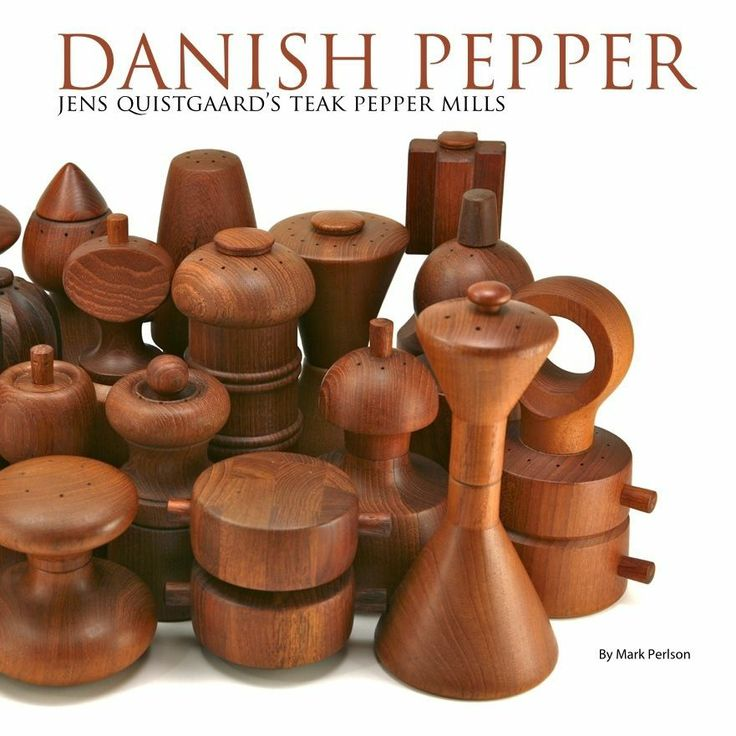 Danish Pepper Quistgaard Dansk Modern Teak Mill Book | eBay