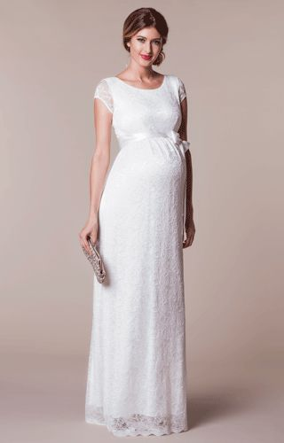 Emma Maternity Wedding Gown Long Ivory - Maternity Wedding Dresses, Evening Wear and Party Clothes by Tiffany Rose.