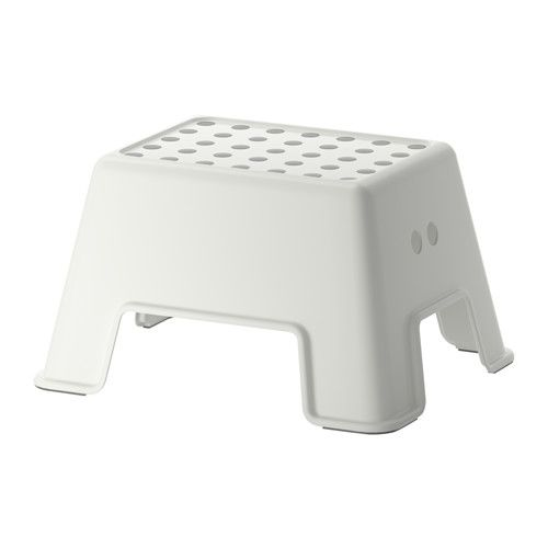 IKEA - BOLMEN, Step stool, white, , The step stool is tested and approved for a maximum weight capacity of 330 lbs, making it suitable for both children and adults.Less risk of sliding since the stool has anti-slip protection on the top.The stool stands securely since it has anti-slip protection on the bottom.