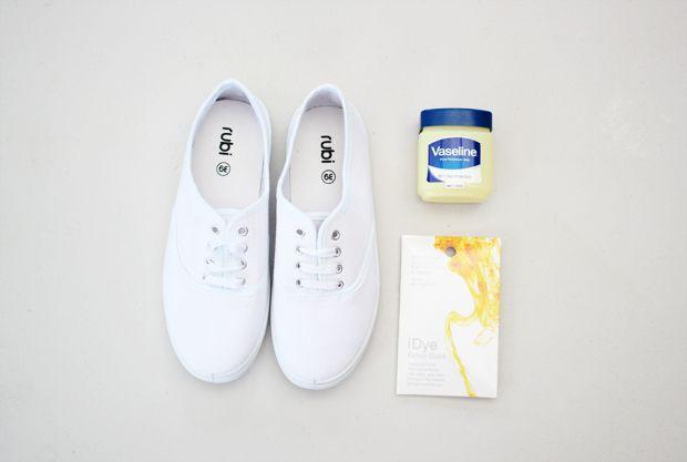 How To: Dip-Dye Sneakers