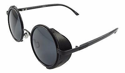 Black with Black Lenses Steampunk Sunglasses 50's Retro Vintage Style Blinders