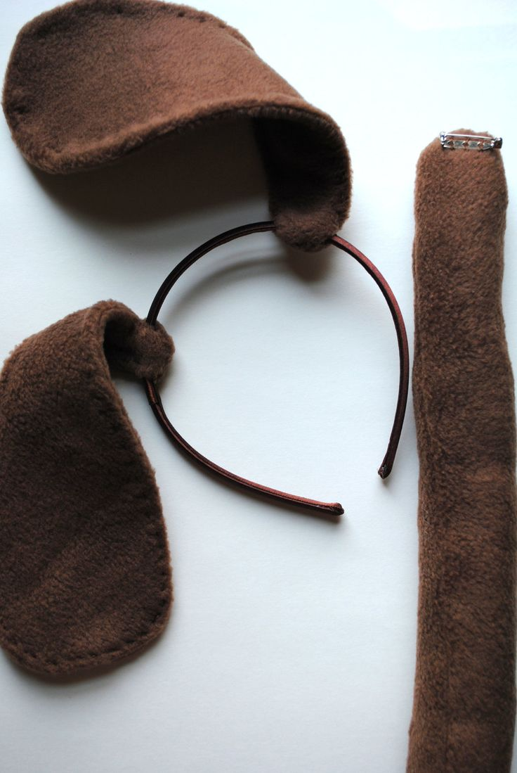 Stitched Brown Puppy Dog Ears and Tail. $15.00, via Etsy.