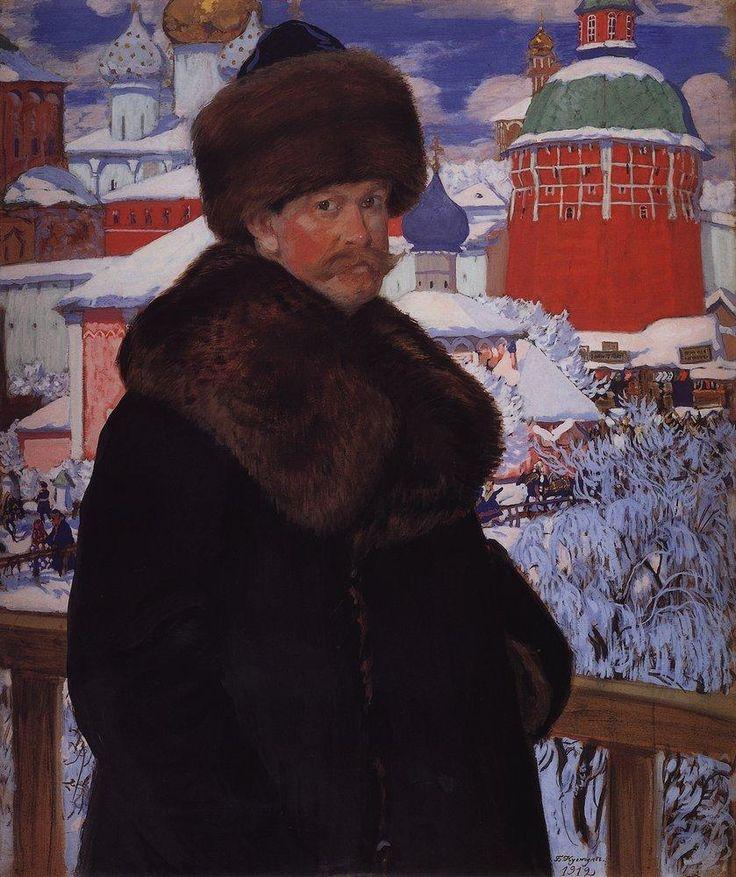 Boris Kustodiev (Russia, 1878 – 1927)  Self-Portrait, 1912