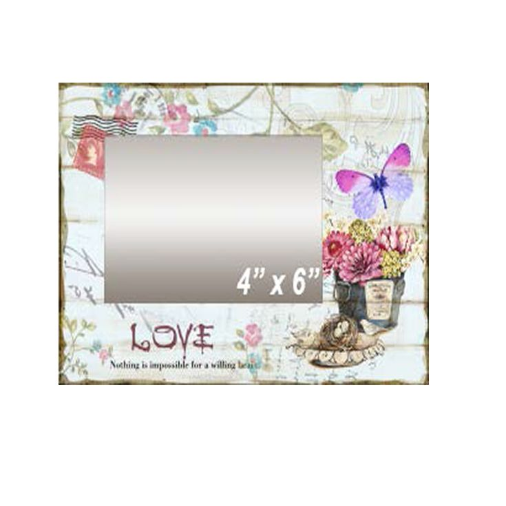 3D Butterfly Art Love Photo Frame for indoor and outdoor decor.