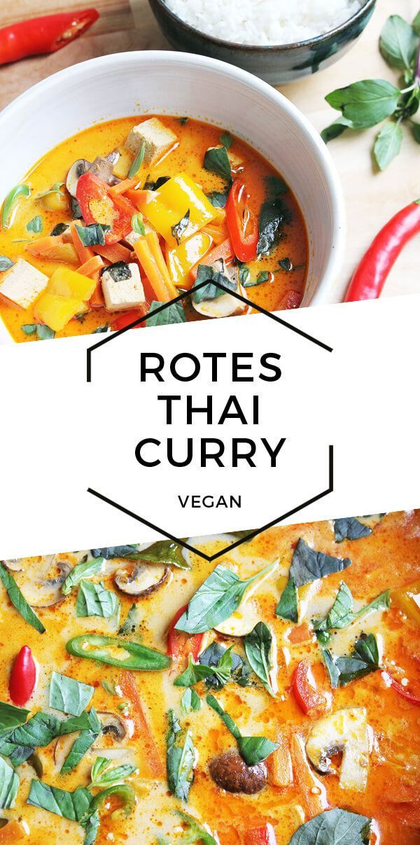 Rotes Thai Curry mit Tofu (Vegan)