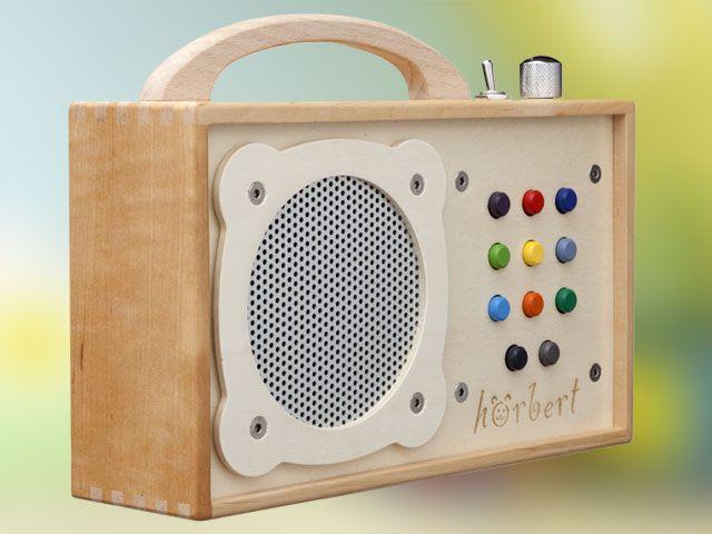 Hörbert, lecteur MP3 en bois pour les enfants