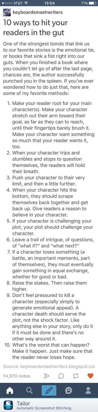 10 tips for the protagonist