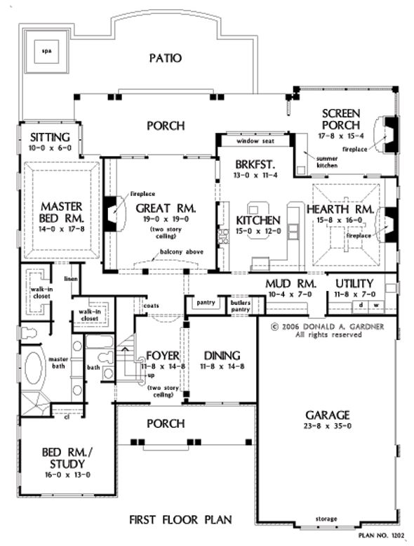 Nice First Floor Layout Second Floor Would Need Library Craft Room