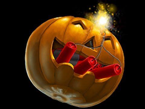 Self carving pumpkin explosion