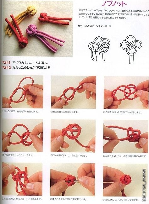 Different method to tying a button knot