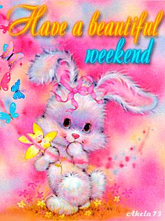 Have a beautiful weekend cute animated friend weekend friday sunday saturday greeting weekend greeting