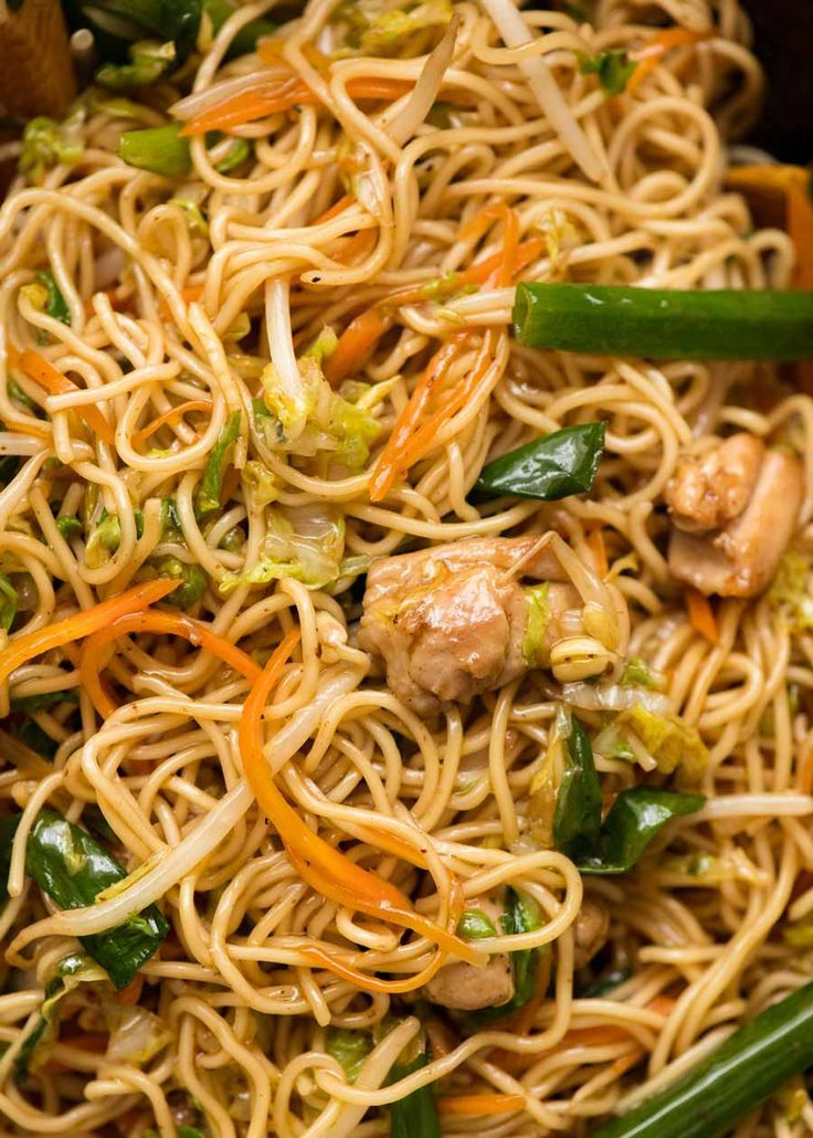 Chow Mein Recipe Asian Recipes Chinese Cooking Wine Food Recipes