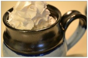 Hot Chocolate with Whipped Soy Cream from @Dr. Kristen Bentson | YouAnew Nutrition #nondairymonth