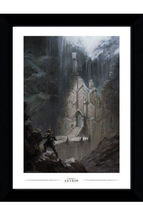Skyrim Elf Template Collector Print