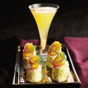 Dill and smoked salmon roulades recipe