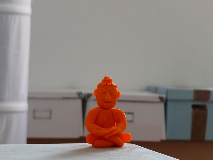Little Buddha made with Play-Doh.