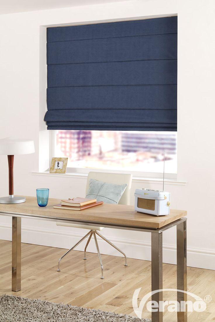 Verwerkt #blauw in uw #raamdecoratie.