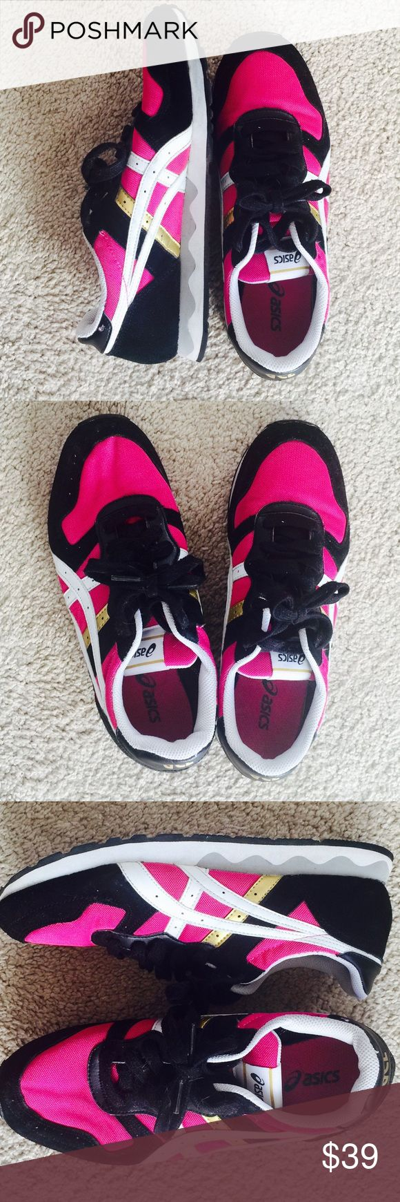 ❗️Asics Gel Hot Pink Athletic Shoes MSRP $98 ❗️Asics Gel Hot Pink & Black ️Athletic Shoes. Size 8. In great condition worn a handful of times. Make an offer! Holiday Blowout Sale ends TODAY--giving to the first reasonable offer I receive! Enjoy discounts on bundles! Asap shipping ;-) Asics Shoes Athletic Shoes