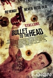 Bullet to the Head movie poster  An unlikely alliance between a cop and a hitman takes place after each watches his partner die. The new partners seek revenge and discover they have a shared enemy and much in common despite being on opposite sides of the law.