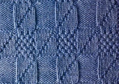 Απλό μοτίβο για πλέξιμο χρησιμοποιώντας βελόνες πλεξίματος + δωρεάν σύστημα
